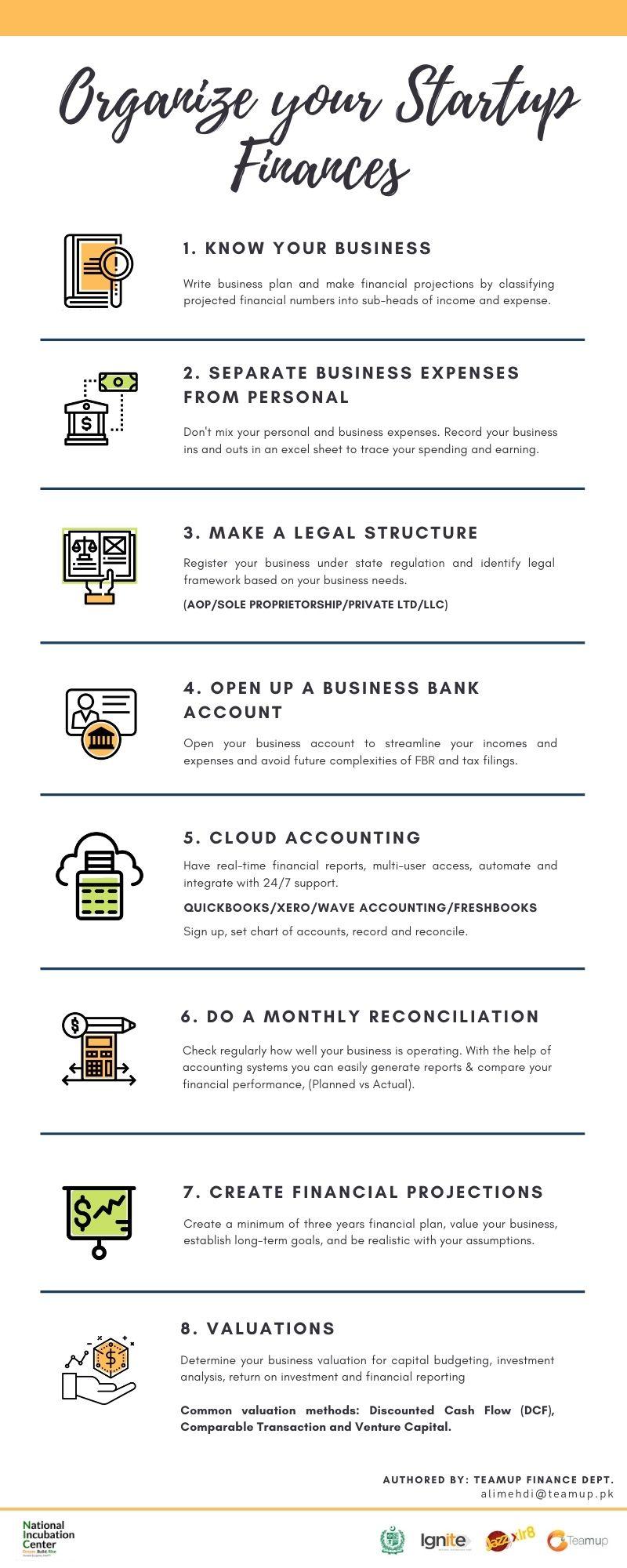 Organize your startup finances